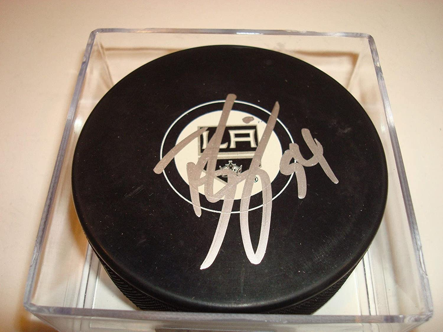 Ben Scrivens Signed Los Angeles Kings Hockey Puck Autographed  1 Go Kings Go      Autographed NHL Pucks