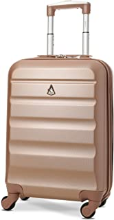 """Aerolite 22x14x9"""" Maximum Airline Size Hard Shell Spinner Carry On Suitcase (Rose Gold)"""