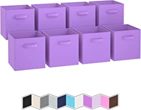 Royexe - Storage Cubes - (Set of 8) Storage Baskets | Features Dual Handles | Cube Storage Bins | Foldable Fabric Closet S...