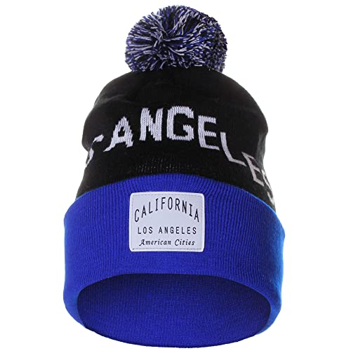 super popular a7a00 16fc9 American Cities Unisex USA Fashion Arch Cities Pom Pom Knit Hat Cap Beanie