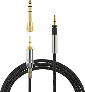 1.2m Replacement Audio Upgrade Cable For Sennheiser Momentum + Audio Technica Headphones - Gold Plated