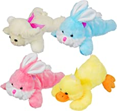 Soft and Huggable Easter Plush: Bunnies, Duck, and Lamb Stuffed Animals (Set of 4 Animals)
