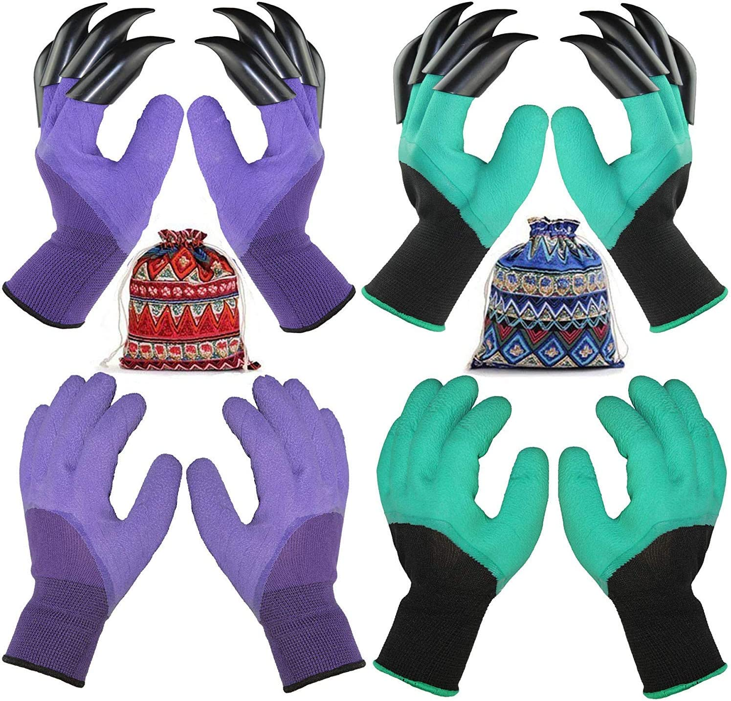 Outlet sale feature Mesa Mall 4 Pairs Garden Gloves With Best For Claws Gift Fingertips