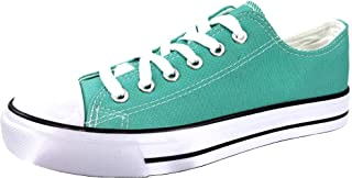 The Collection Women's Low Top Sneakers Canvas Lace-up Shoes - Runs Small
