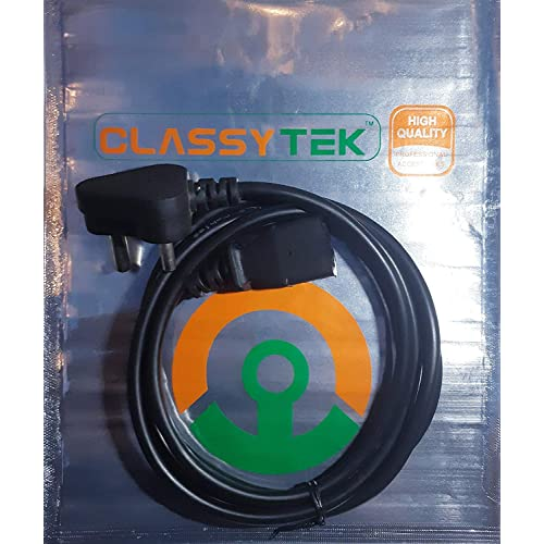 ClassyTek 3 Pin Computer Power Cord Cable for Computer PC SMPS 1.5 Meter or 4.9 Feet - Black