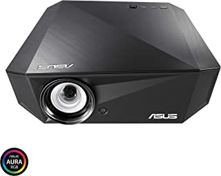 ASUS F1 LED Projector, FHD 1080P 1200 Lumens, 3D, Short Throw | Premium Audio by Harman Kardon | Wireless Projection | Remote Control | 2 Years Warranty