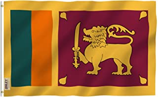 Anley Fly Breeze 3x5 Feet Sri Lanka Flag - Vivid Color and UV Fade Resistant - Canvas Header and Double Stitched - Republic of Sri Lanka Flags Polyester with Brass Grommets 3 X 5 Ft