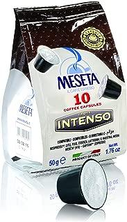Meseta Cápsulas de Café Italiano, Mezcla Intenso, Compatible con el Sistema Nespresso, 50 g