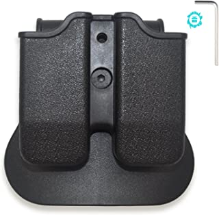 ELUTONG Tactical Magazine Holder The Ultimate Stack 9mm /.40 Cal Magazines Hunting Belt Case Holster Pouch Cartridge Clip Holder Gun with Paddle Pouch Black