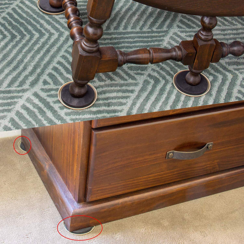 Deslizadores de muebles redondos, silla de deslizamiento de teflón ...