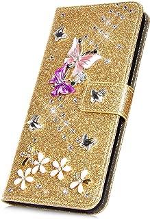 Surakey PU Leder H/ülle f/ür Samsung Galaxy S8 Plus Handyh/ülle Schutzh/ülle Glitzer Diamant Strass Bling Mandala Blumen PU Tasche Flip Case Brieftasche Handytasche St/änder Kartenf/ächer,Rose Gold