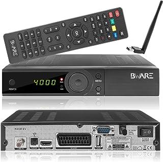 Beware RX 540 HD DVB-S2 - Receptor de satélite digital Full HD [HDMI, euroconector, USB, S/PDIF, LNB IN, RS-232] negro