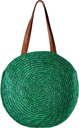 BSB1747 - Round Wheat Straw Tote