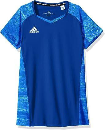Amazon.com : adidas Girl's Volleyball Quickset Cap Sleeve Jersey ...