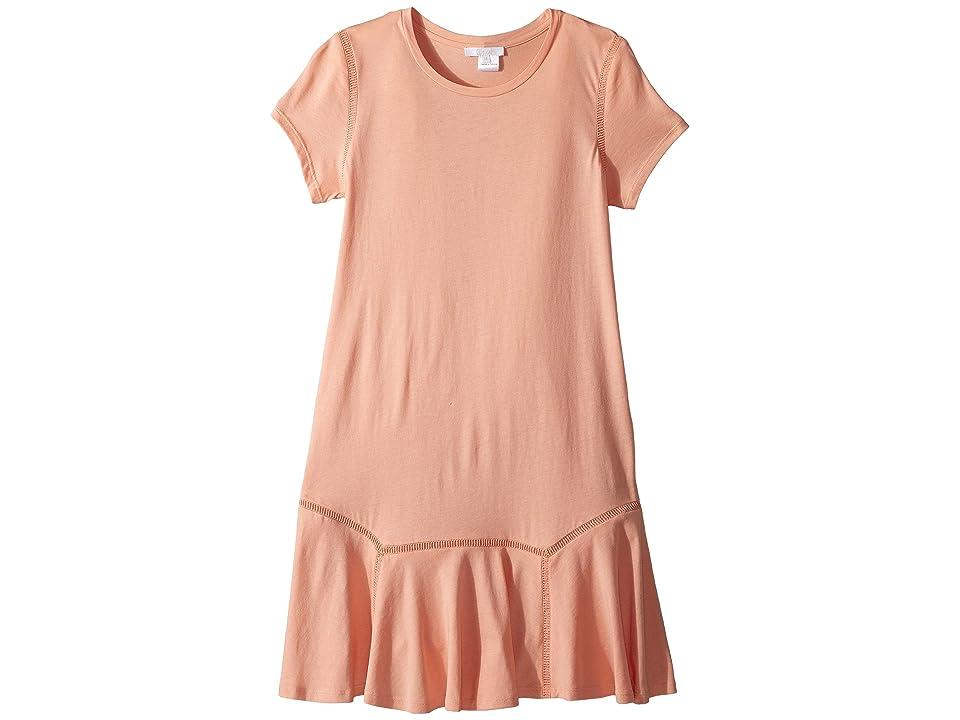 Chloe Kids Jersey Essential Short Sleeve Dress (Big Kids) (Rosalie) Girl