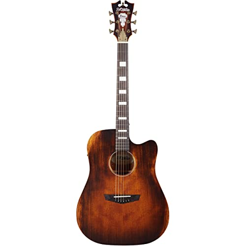 DAngelico Premier Bowery Acoustic-Electric Guitar - Aged Natural