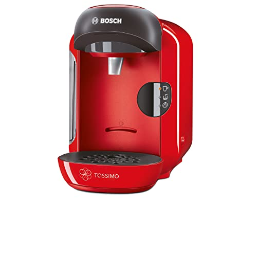 Bosch Tassimo Vivy TAS1253GB Coffee Machine, 1300 Watt, 0.7 Litre - Red