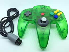 Generic Classic Controller for Nintendo 64 N64 - Clear Green