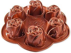 Nordic Ware Rosebud Baking Pan, 2-1/4 Cup Capacity, Copper