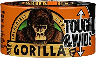 "Gorilla Tape, Black Tough & Wide Duct Tape, 2.88"" x 30 yd, Black 1 Pack TV205975 1"
