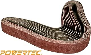 POWERTEC 110790 2 x 72 Inch Sanding Belts | 400 Grit Aluminum Oxide Sanding Belt | Premium Sandpaper – 10 Pack