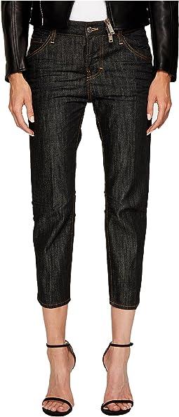 DSQUARED2 - Vintage Black Wash Cool Girl Cropped Jeans
