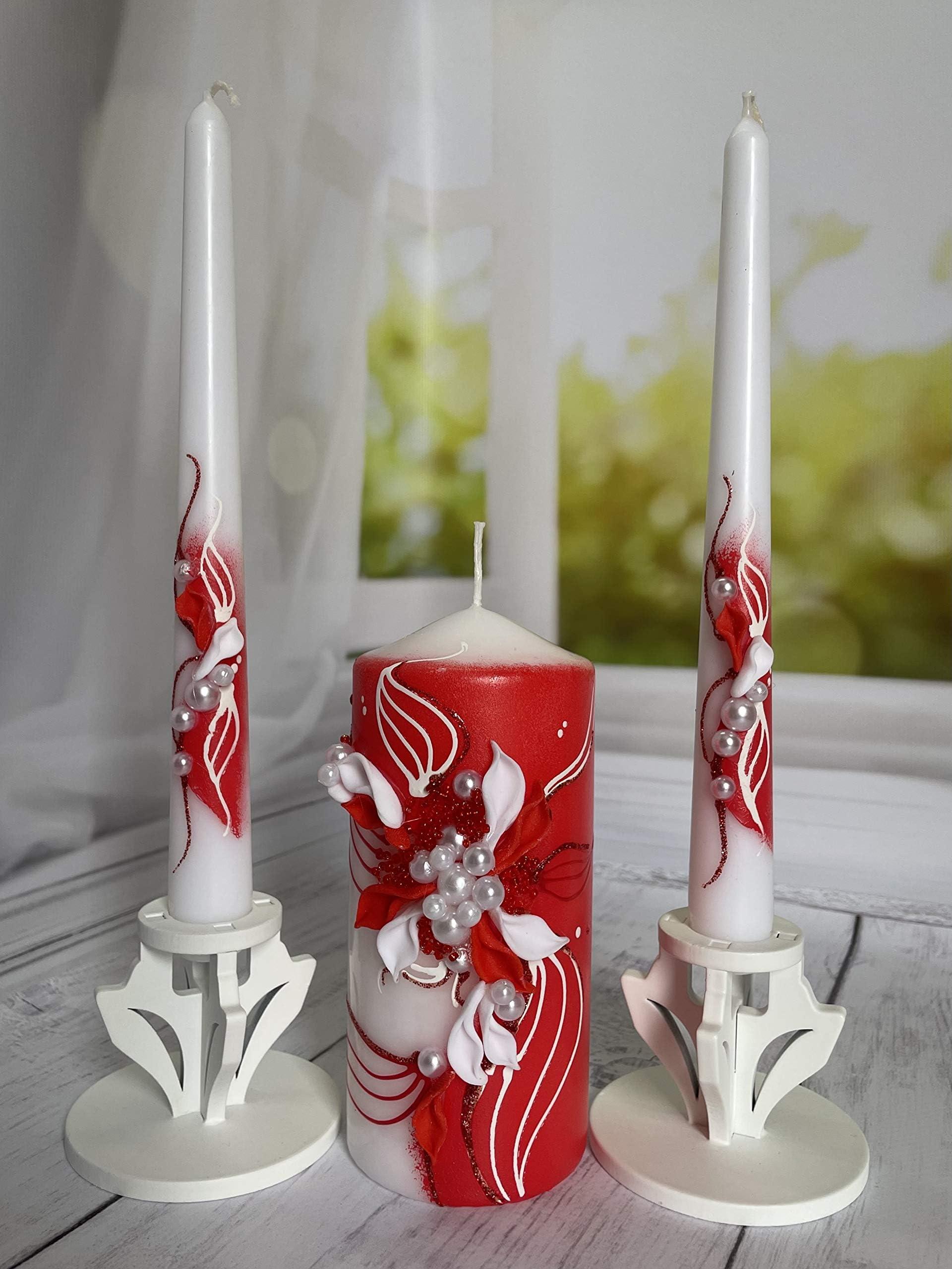 Personalized Monogram Unity Candle SET I Wedding Candle I Wedding Gift I FREE SHIPPING