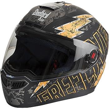 Steelbird SBA-1 Free Live Matt Black with Orange with Plain visor,600mm