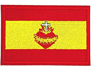 Gemelolandia   Parche Termoadhesivo de la Bandera de España Sagrado Corazon 7cm   Muy Adherentes   Patch Stickers Para Dec...
