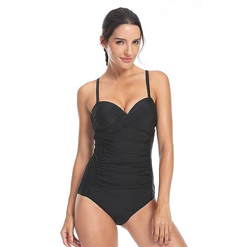 QUEENIEKE Women Swimwear One Piece Training Swimsuit Open Back Bathing Suit 91210