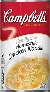 Campbell's Condensed Family Size Homestyle Chicken Noodle Soup, 22.2 Ounce (Pack of 12)
