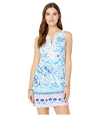 Lilly Pulitzer Gabby Shift (Breakwater Tint Party Wave Engineered Shift) Women