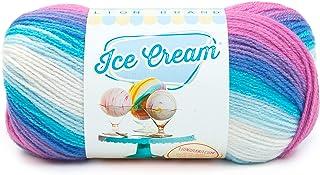 Lion Brand Yarn 923-215 Ice Cream Yarn, Moon Mist