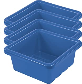 ECR4Kids Square Storage Tray, Blue, 20-Pack