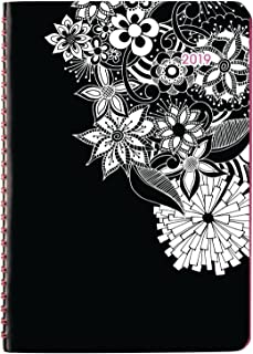 "Cambridge 2019 Weekly & Monthly Planner, 5-1/2"" x 8-1/2"", Small, FloraDoodle (589-200)"