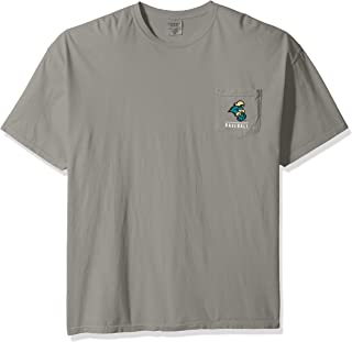 NCAA Coastal Carolina Chanticleers Baseball Frame Short Sleeve Pocket T-Shirt, XX-Large,Grey