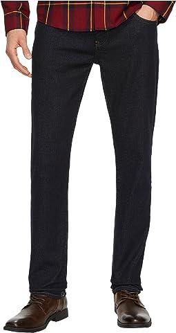 Stretch Slim Straight Leg Jeans in True Wash
