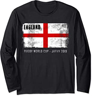 World Rugby 2019 England Flag Gift for Fan & Team Player Long Sleeve T-Shirt
