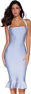 Womens Rayon Halter Fishtail Bandage Party Dress