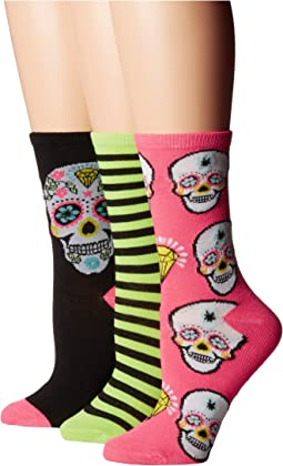 3-Pack Halloween Crew Socks