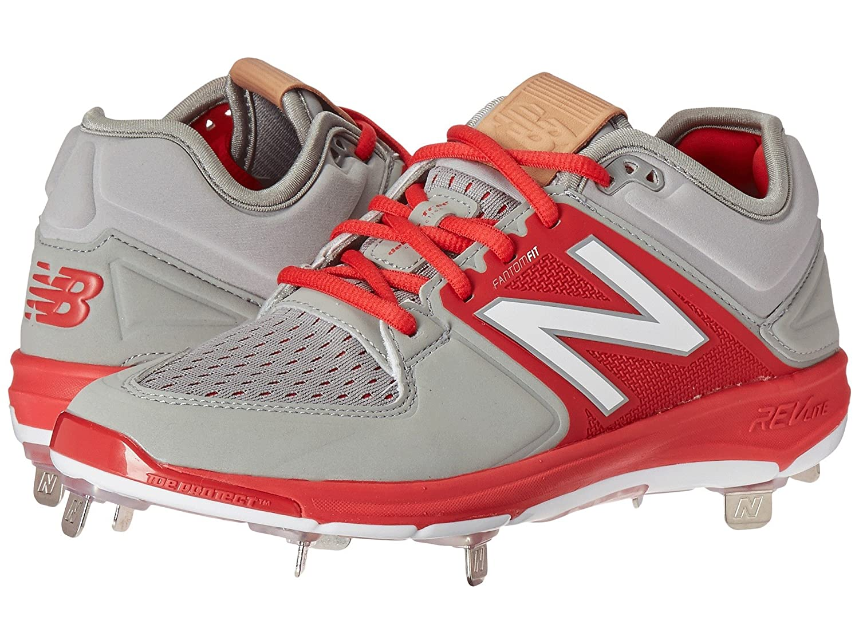 (ニューバランス) New Balance メンズ野球ベースボールシューズ?靴 L3000v3 Grey/Red 10 (28cm) D - Medium