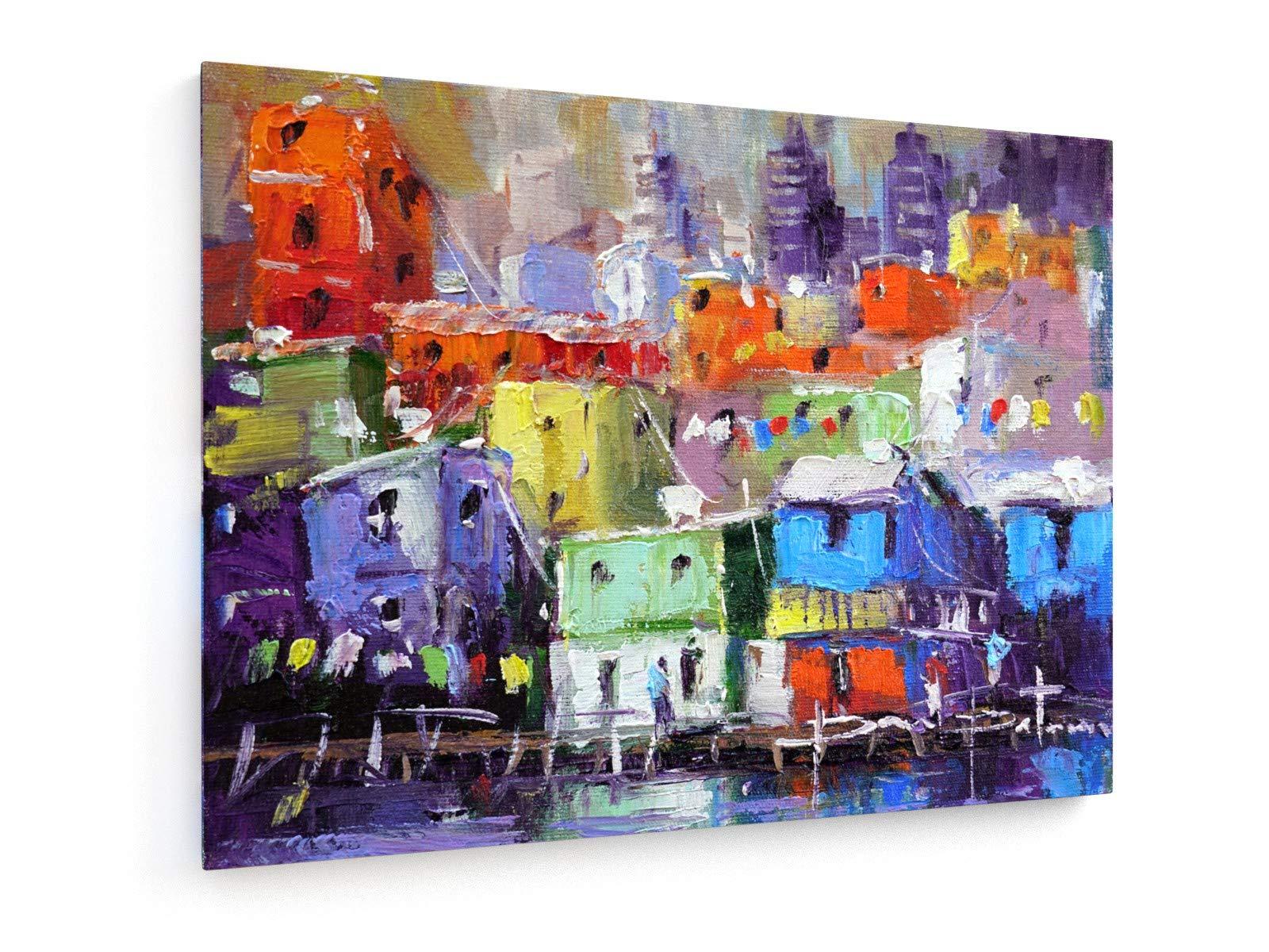 weewado Paulo Peter - Favela España 1-40x30 cm - Impresion en Lienzo - Muro de Arte - Canvas, Cuadro, Poster - City Trip & Travel: Amazon.es: Hogar