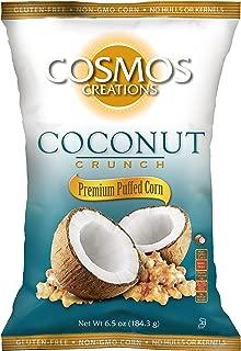 Cosmos Creations Coconut Crunch Premium Puffed Corn 6.5 oz bag, case of 10