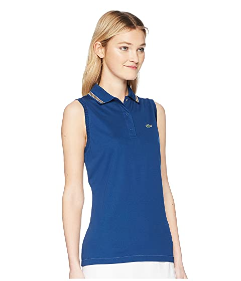 Lacoste Sleeveless Ultra Dry Tennis Polo with Mesh Back Marino/Buttercup/White/Apricot/Buttercup Sale Fashion Style Free Shipping Many Kinds Of For Sale Cheap Price From UK VRs9aSza
