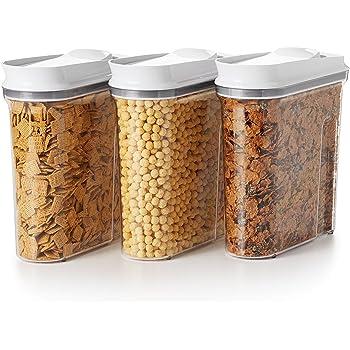 OXO Good Grips 3-Piece Airtight POP Cereal Dispenser Set,Clear,3 Piece Cereal Set