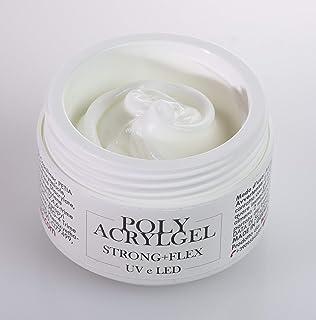 Beauty Space Nails Polyacrylgel Milky White Costruttore UV Ibrido tra Gel e Acrilico, Rosa Latte - 30 Ml