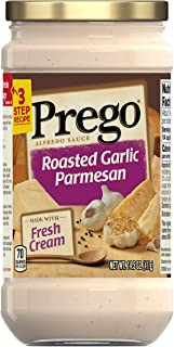 Prego Pasta Sauce, Alfredo Sauce With Roasted Garlic and Parmesan Cheese, 14.5 Ounce Jar (Pack of 6)
