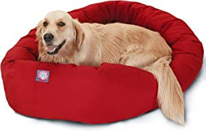 MAJESTIC PET POLY-COTTON BAGEL DOG BED