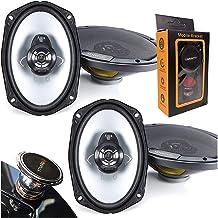 "$94 » 2 Pairs of Kenwood KFC-6966S 6""x9"" 3-Way 400W car Speakers (4 Speakers) with Gravity Magnet Phone Holder Bundle"
