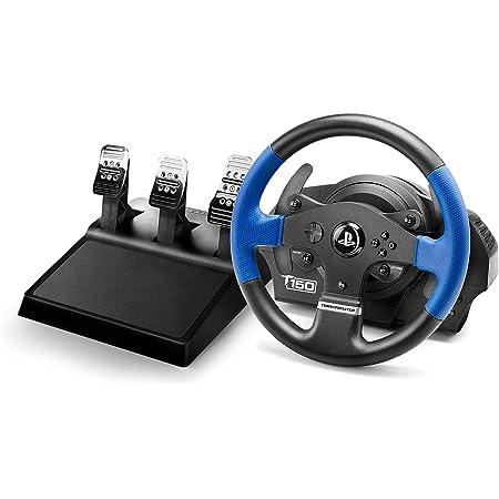 Thrustmaster T150 Pro volante de carreras ergonómico con un juego de 3 pedales - Compatible con PS4 y PC - Funciona con juegos de PS5